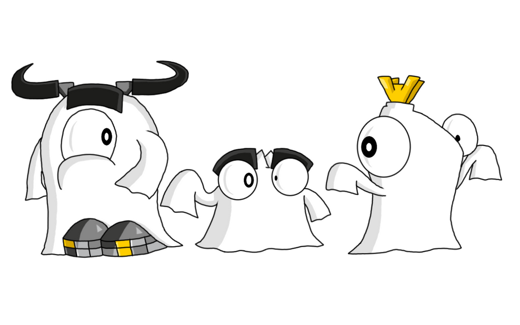 mixels cragsters as sheet ghosts for halloween by pogorikifan10 - Halloween Sheet