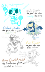MXLS - Krader, Globert, Gox and Camillot as Ghosts by PogorikiFan10