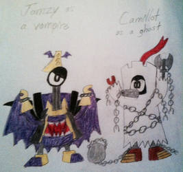 Mixels - Jamzy and Camillot's Halloween Costumes by PogorikiFan10