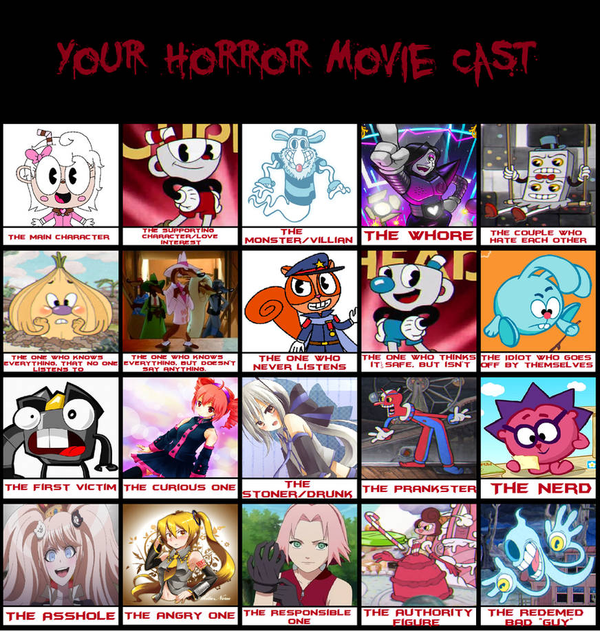 My Horror Movie Cast Meme by Princess-Josie-Riki on DeviantArt