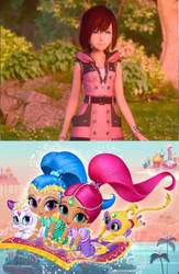 Shimmer and Shine loves Kairi's KH3 form by Princess-Josie-Riki