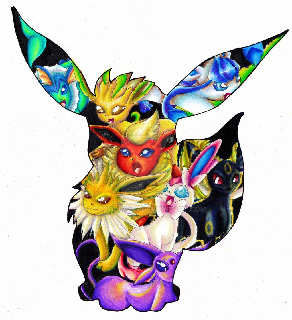 how to draw pokemon eevee evolutions