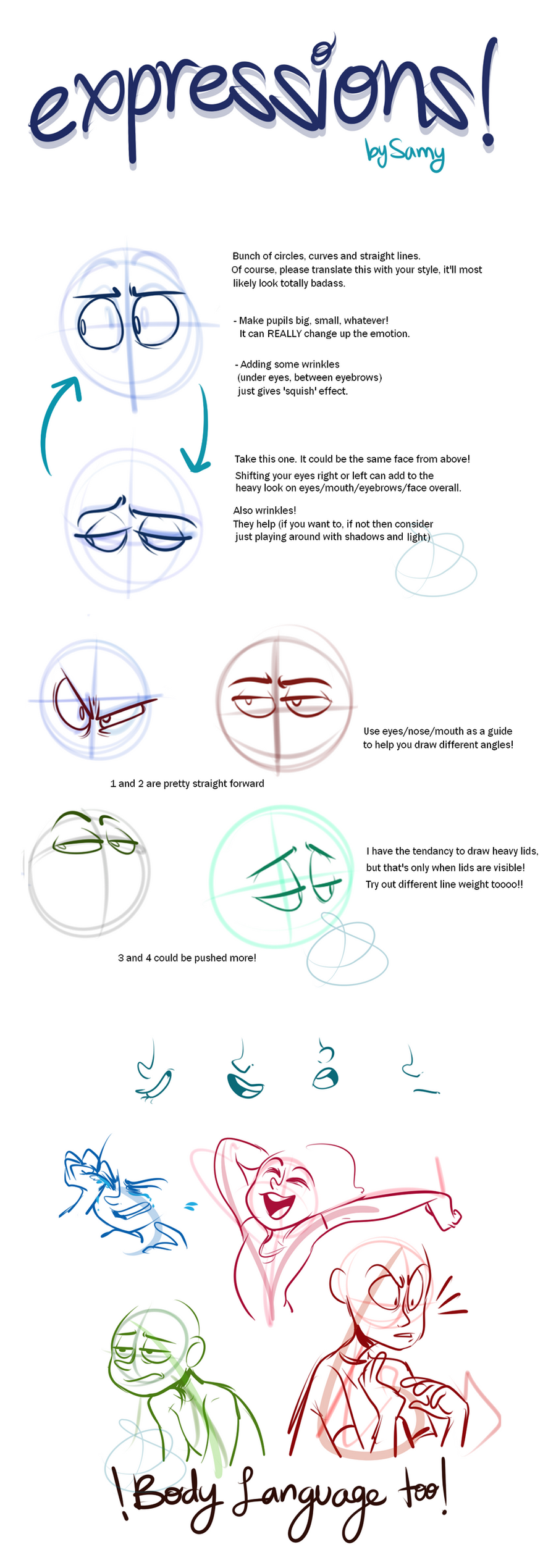 Character Design For Animation Tutorial : Expressions pt by elixirmy on deviantart