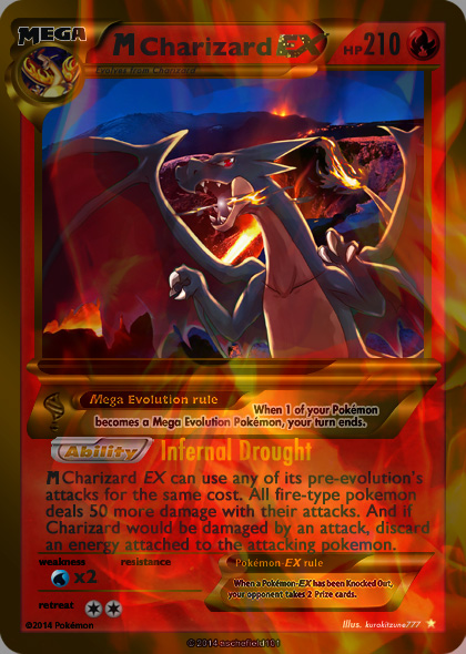 M Beedrill Ex Mega Shiny Charizard Y EX Card
