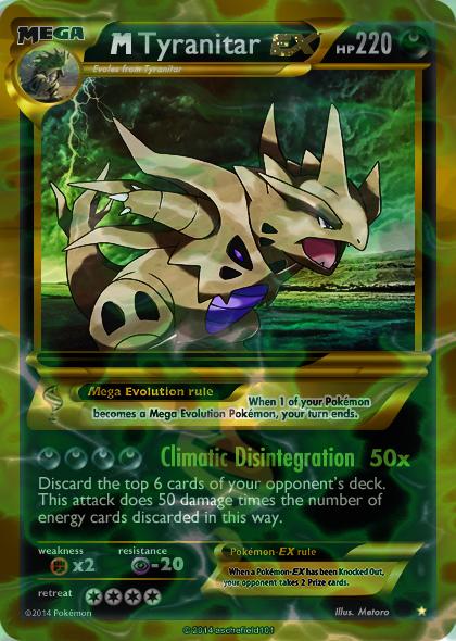 Mega shiny Tyranitar card by Metoro on DeviantArt