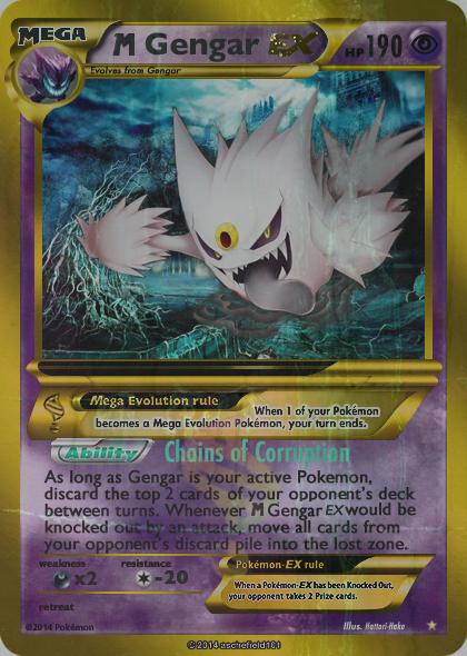 Shiny Mega Gengar Ex card by Metoro - 279.3KB