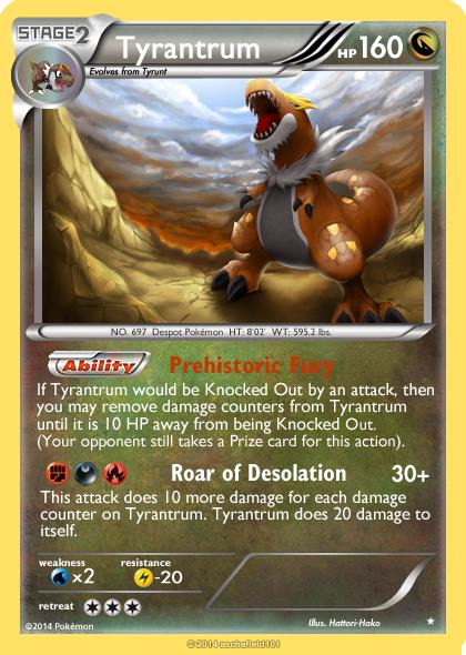 Tyrantrum Card By Metoro On Deviantart