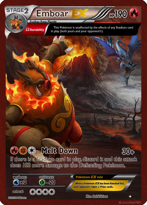 Emboar EX card by Metoro on DeviantArt