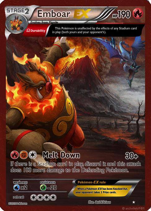 Emboar EX card by Metoro on DeviantArt