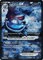 Shiny Mega Glalie EX card by Metoro