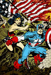 Captain America and Wonder Woman (coloring)