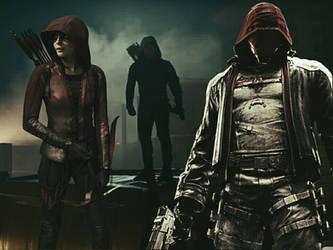 Red Hood and team Arrow by Jasontodd1fan