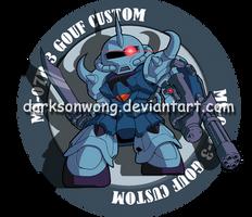 MS-07B-3 Gouf Custom by darksonwong