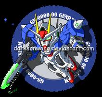 GN-0000 00 Gundam by darksonwong