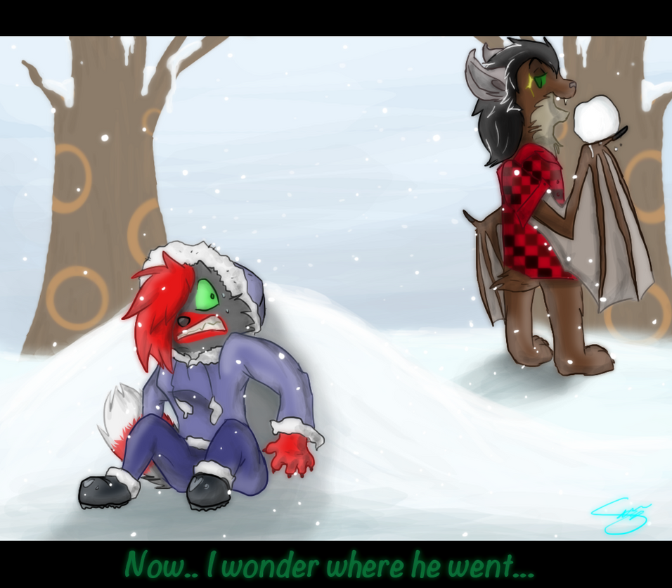 Snowball fight by PenguinEatsCarrots