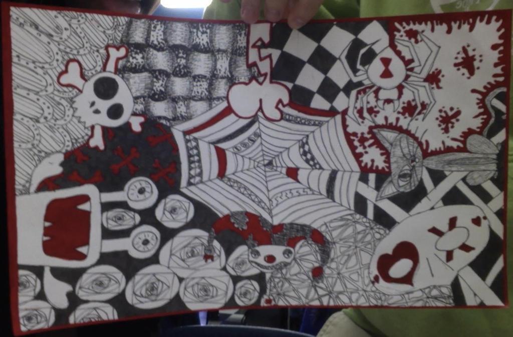 Halloween Zentangle By Mikeys Unicorn On Deviantart