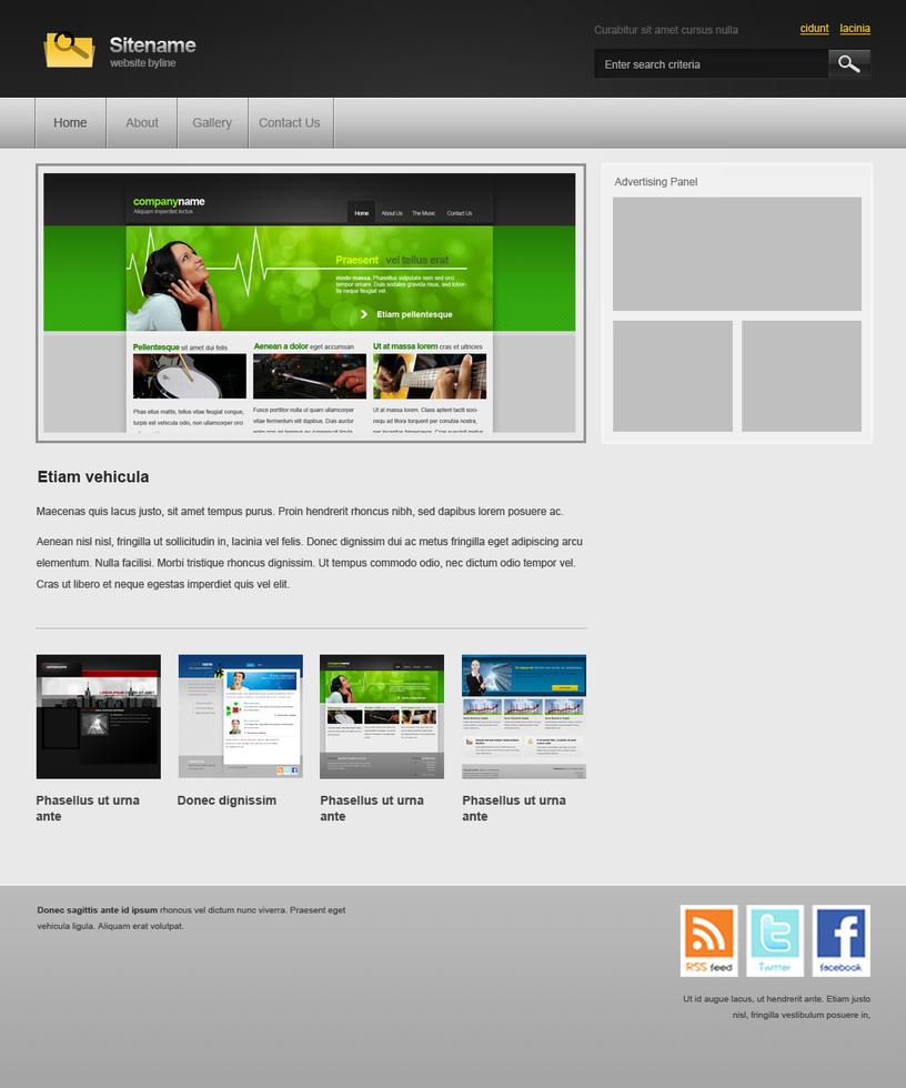 Basic Black Web Template by artisticrender on DeviantArt