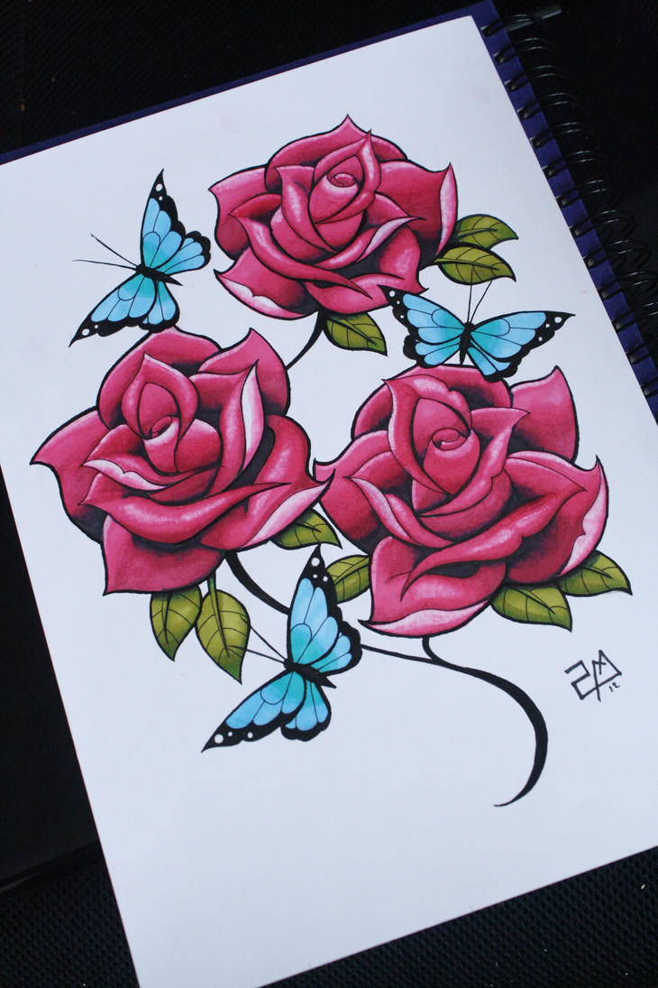 I Draw Roses - Colour :D by artisticrender on DeviantArt