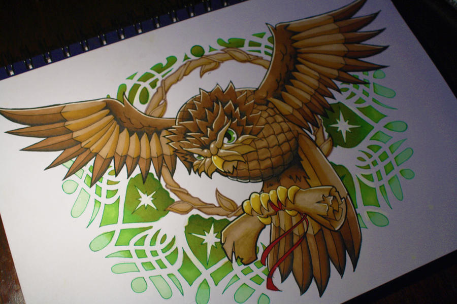 Owl Tattoo Design by artisticrender