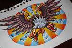 Rarrr I'm an Eagle - Tattoo Design