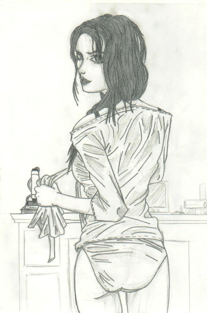 black haired girl by THEGODSLAYER91