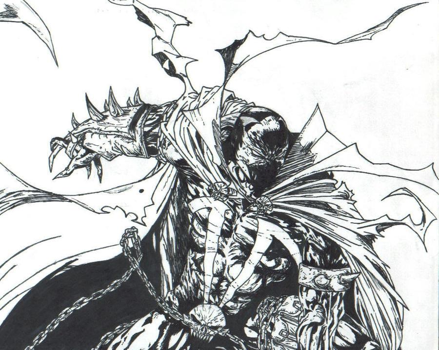 inked Spawn 200 cover B by THEGODSLAYER91