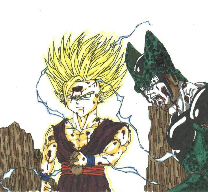 gohan vs cell by THEGODSLAYER91