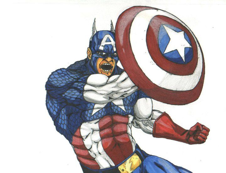 captain america by THEGODSLAYER91