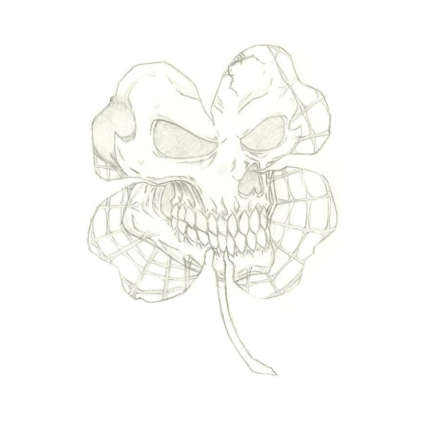 skull clover by THEGODSLAYER91