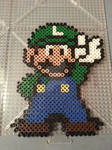 Luigi Perler Bead Figure