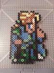 Final Fantasy VI Edgar Perler Bead Figure