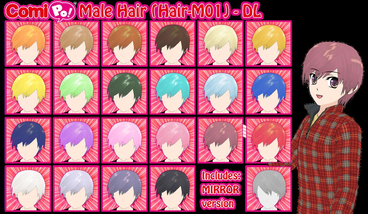 Male Hair For Comipo Hair M01 Dl Csu Version By Akio