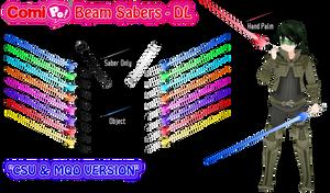 ComiPo Beam Sabers - DL by AKIO-NOIR