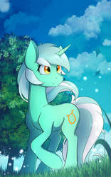 Green by Laptop-pone