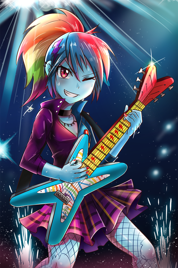 Rocking out HARD! by iojknmiojknm