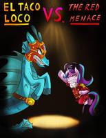 [Commission] El Taco Loco vs. The Red Menace by iojknmiojknm