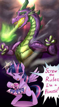 Green Eyes Purple Dragon