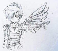 One Wing Soldier by iojknmiojknm