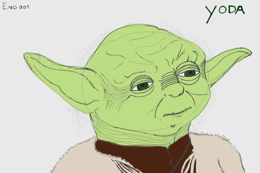 Doodle YODA Star wars by End001