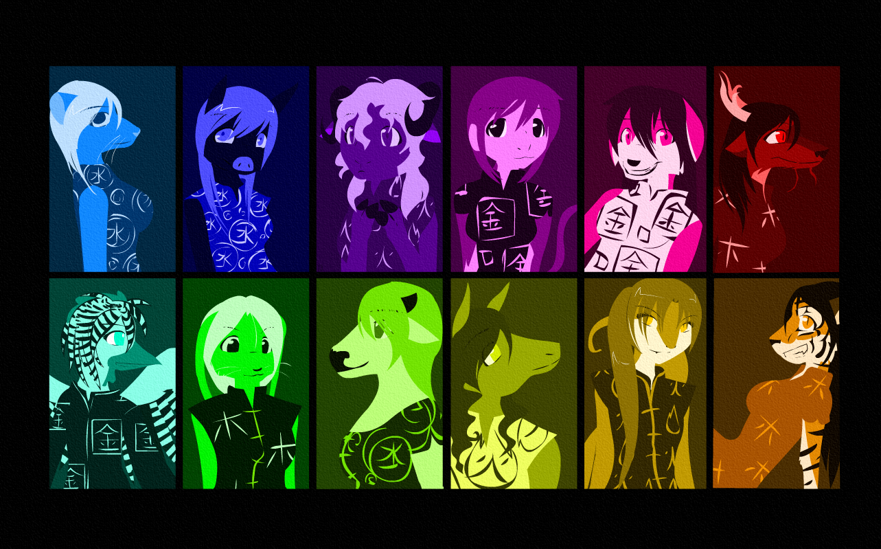 Chinese Zodiac Wallpaper By Exploding Zombies On Deviantart