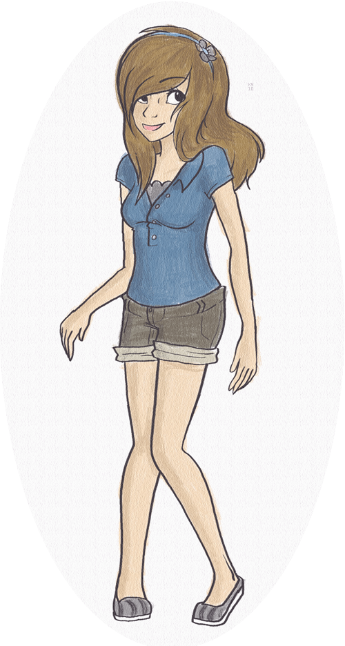 Tumblr Drawing 1 Shorts Girl By Exploding-Zombies On DeviantArt