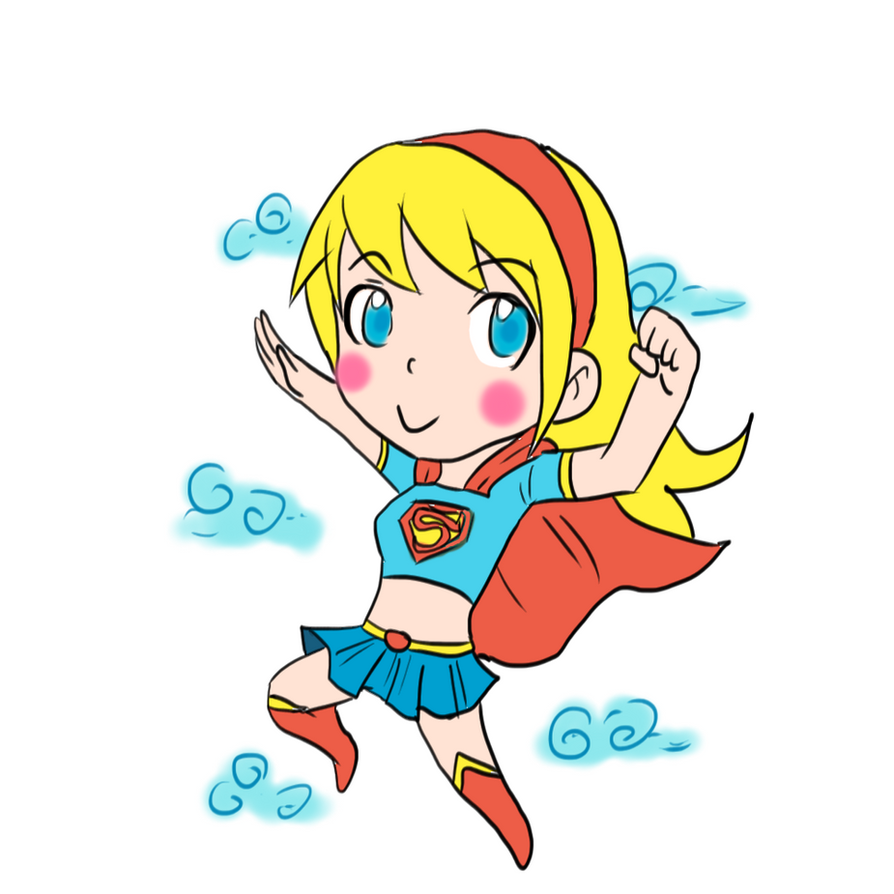 Supergirl chibi by Ray-D-Sauce on deviantART