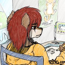 Drawing At School by PingTheHungryFox