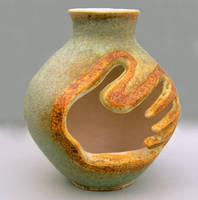 tribal hand vase by cl2007