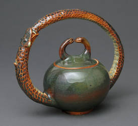 Ouroboros tea pot by cl2007