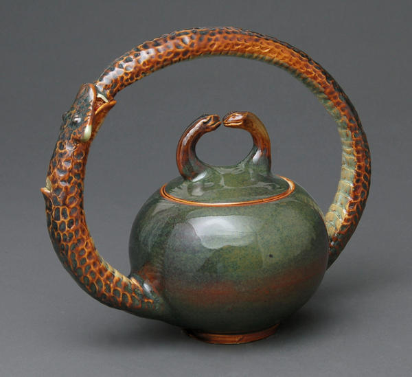 Ouroboros tea pot