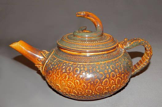 snakeskin teapot