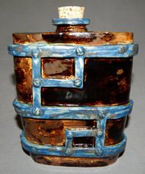 Iron framed flask