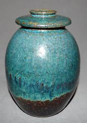floating blue jar