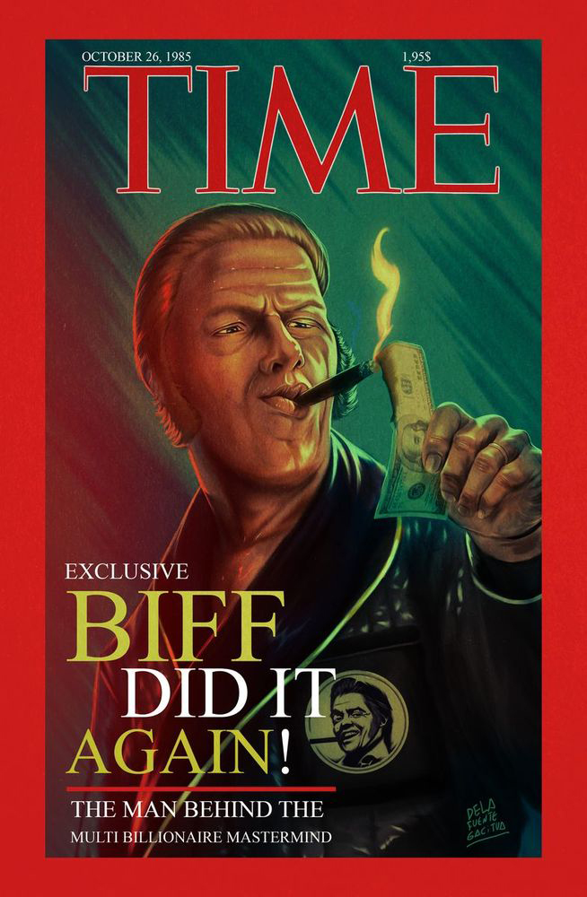 Biff Tannen cover Magazine by cdelafuente